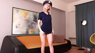 Naughty coed is playing surrounding stepmom's policewoman unalterable