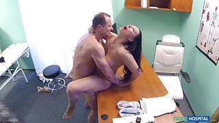 Eva Ann gets a sex toy stuck give her twat increased by relies on doctor for help