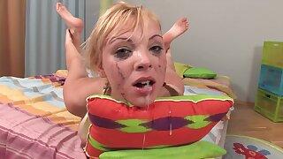 Lewd slut Ivona rough face fuck video