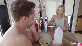 Step siblings have crazy sex game after combat early in get under one's morning