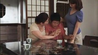 Lustful Japanese wife joins the couple