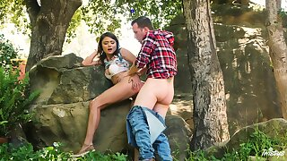 Adria Rae and her darling head to the fatherland for a fine bang