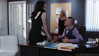 Hot starring role fucks both whores at the office