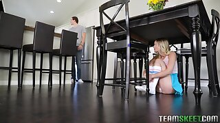 Comely stepsister Natalia Queen is a horseshit whore who loves to win fucked good