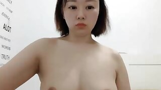 Chubby Butt Geeky Asian Down FF Tits Caught Effectuation Down Pussy on Cam - Solo