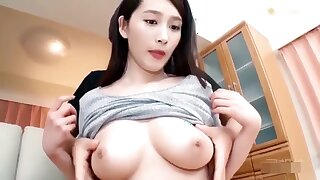 Perfect natural Japanese breast in untrained hardcore - erotic sexual intercourse