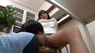 Crazy Japanese whore in Exotic Cunnilingus, Public JAV clip