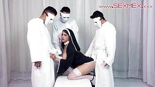 Hot Latina Alexandra Paris baptized into the cult of sexmex
