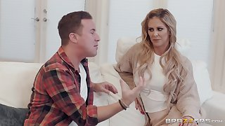 Cherie DeVille adores when her lover cum on her face and naked body