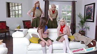 stunning Lauren Phillips loves everything about lesbian group fuck