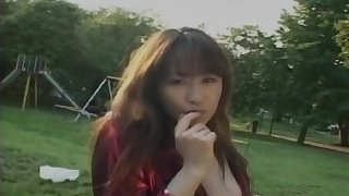 Public pussy and tits flashing session with Japanese Mirai Yasuoka