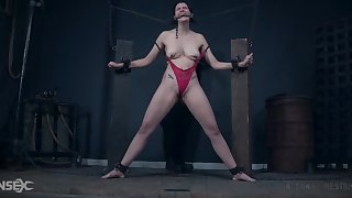 Electric pussy torture for gagged and tied up Sosha Belle