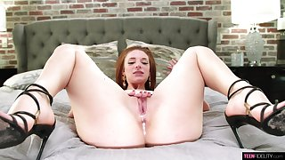 Jaycee Starr wants cum inside of her pussy while riding cock