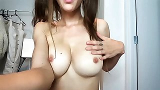 Youthful busty bitch close by sleaze boobs