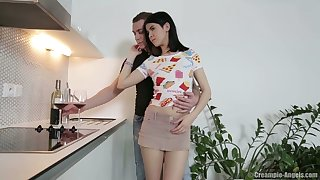 Talkative and flirty Lady Dee is finally gets her wet pussy fucked doggy