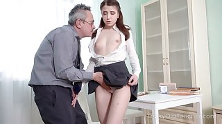 Hot coed needs some home tutoring and she wants to fuck her private teacher