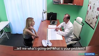 Shy blonde amateur girl tells her doctor she is very horny